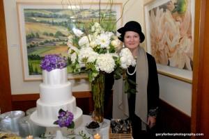 Shirley at reception