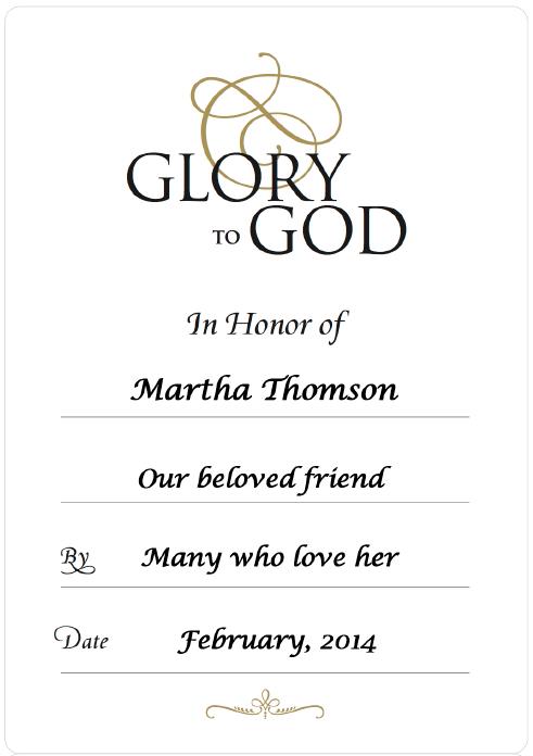 WEB Honor of Martha