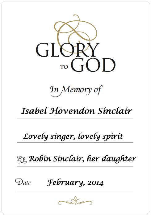 WEB Memory of Isabel