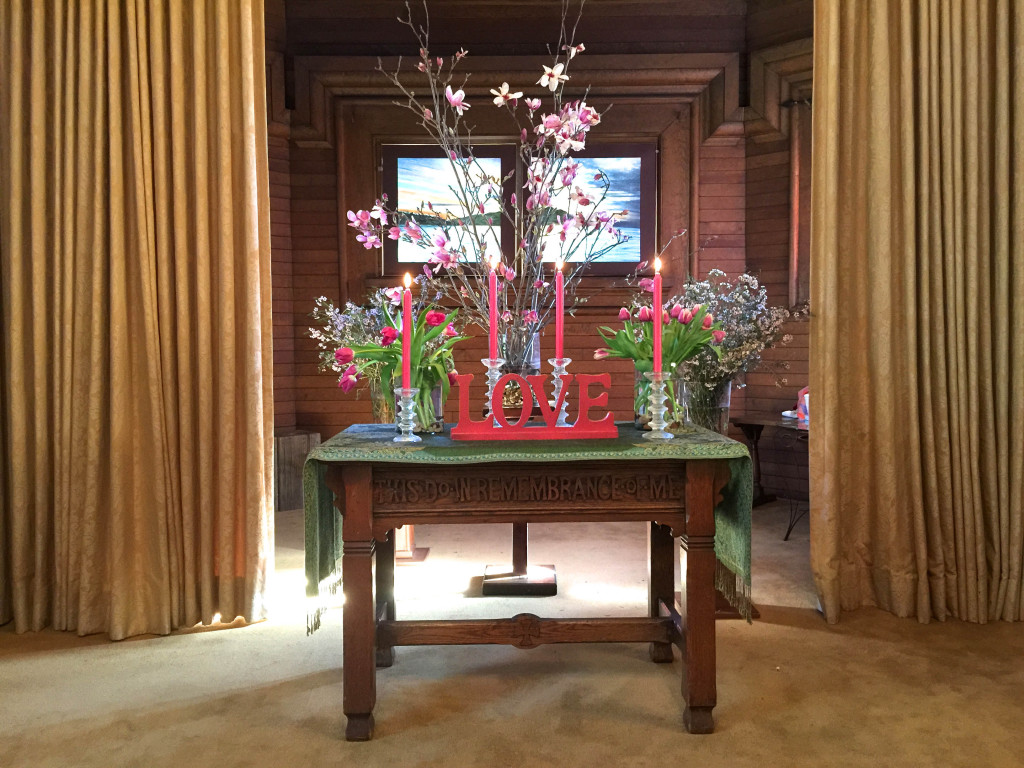 Feb 15 Spring Flowers chancel