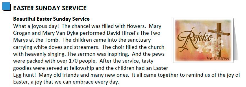 Easter hilites SPINN 4,10,15