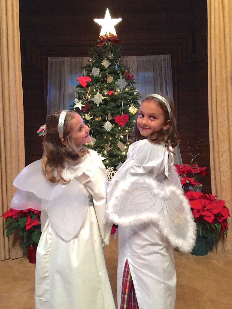 Christmas Family Service 2015 2 angels