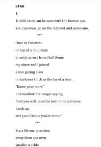 Kathy Evans' Poem Star, thumbnail