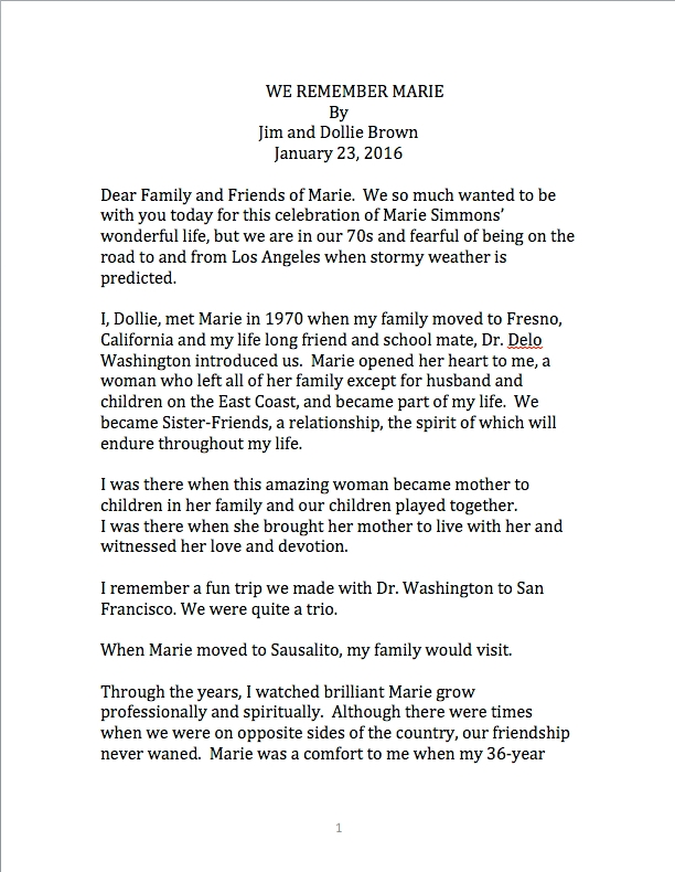 We remember Marie pg 1