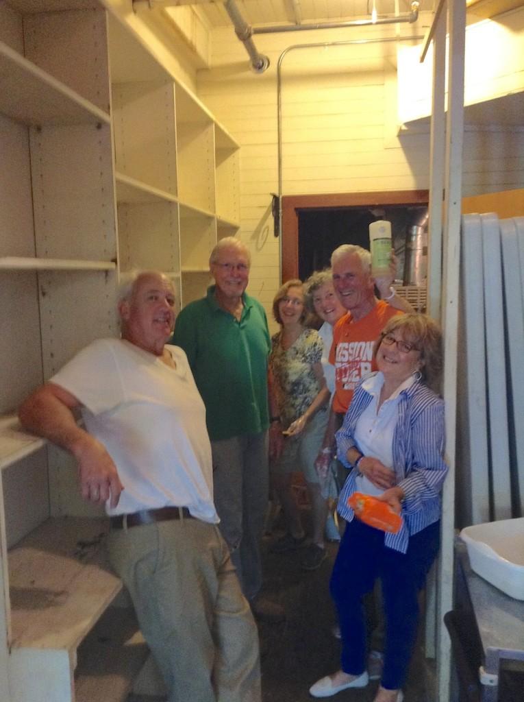 In the storeroom group IMG_1470