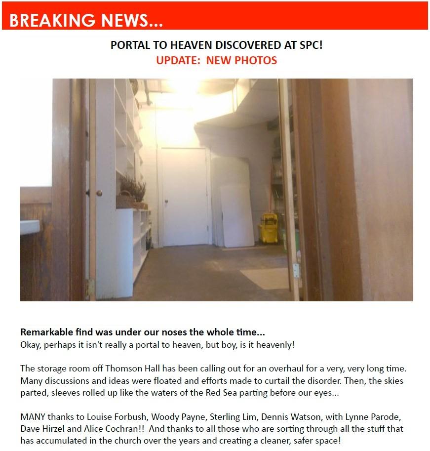 Storage room, Pauls SPINN story