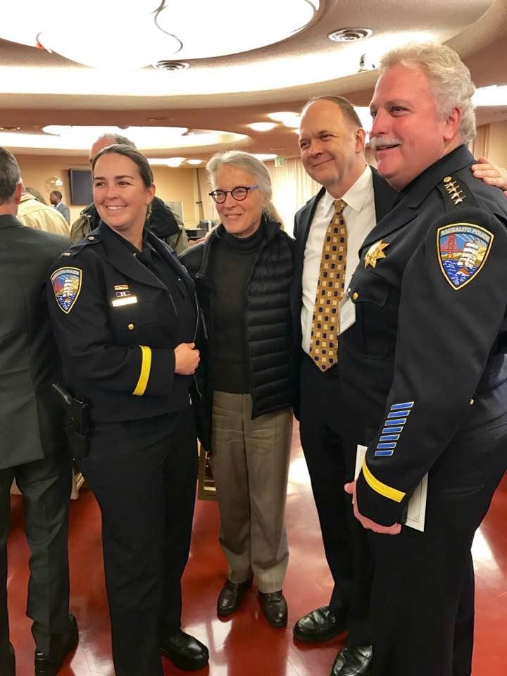 Lt Stacie Gregory, Supervisor Kate Sears, Paul, Chief John Rohrbacher