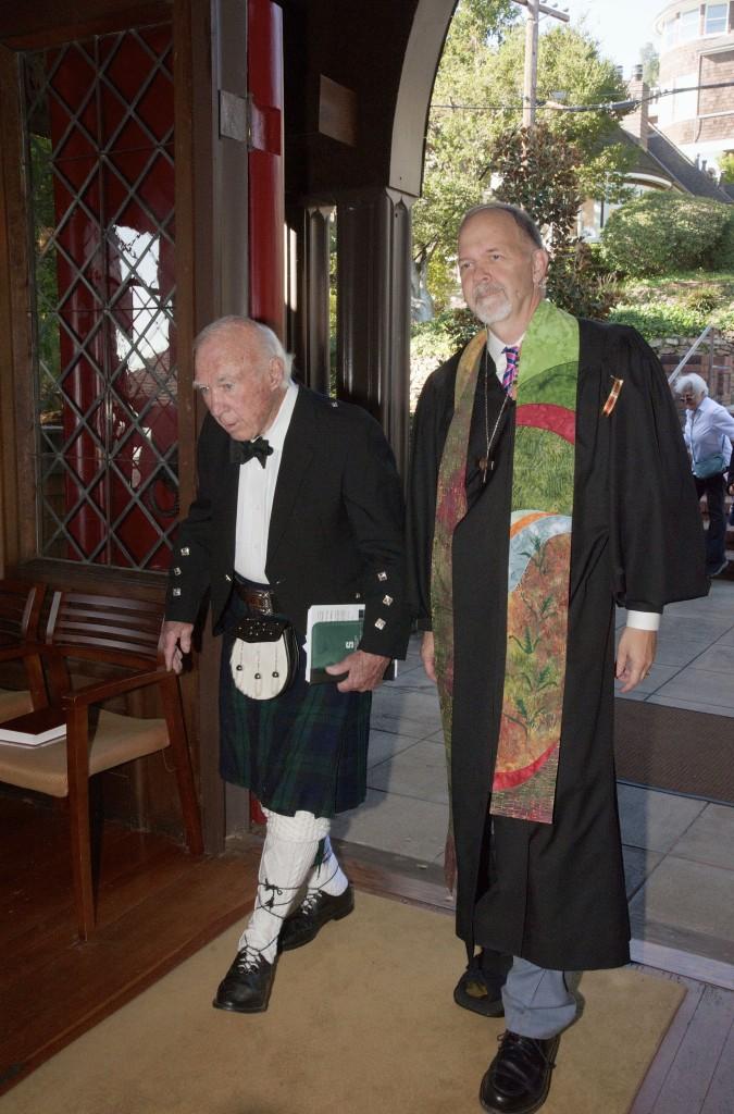 Paul and Jim coming in Kirking - 35