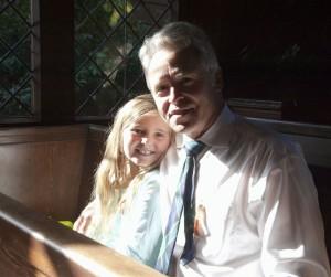 Ross and Lovely Daughter Kirking - 31