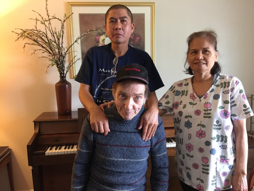 Don Francisco and his lovely caregivers