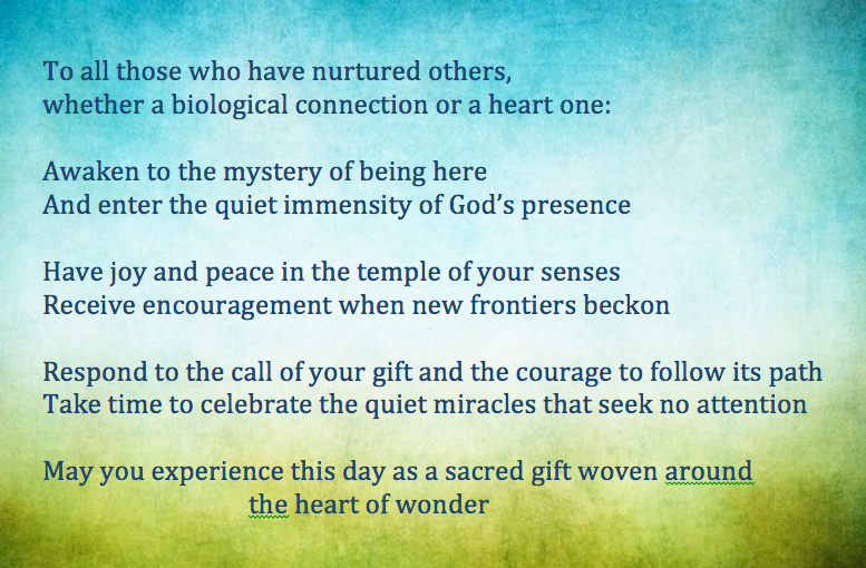 To all those who have nurtured others